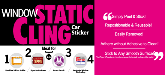 Window static cling (Car Sticker)